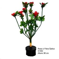 ROSA C/FIBRA DE LUZ 80CM -...